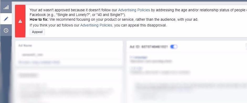 facebook ads ban appeal