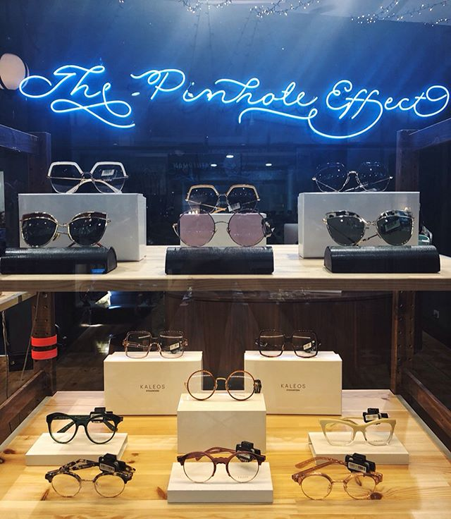 Our window displays are looking fresh and wonderful! KALEOS frames are designed in Barcelona and are like none other, with beautiful acetates and daring designs. Come in store to see for yourself! 😎  @thepinholeeffect #frames #sunglasses @kaleoseyehunters #barcelona #rundlemall @rundlemall #adelaide #fashion #quality