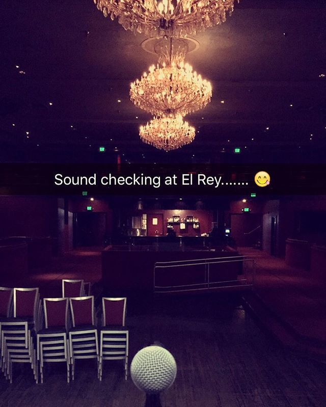 Sound check ✔️ place will be packed in just a few hours 😝 #elrey #romewillburn #la #concert #soldout #otown #poplife