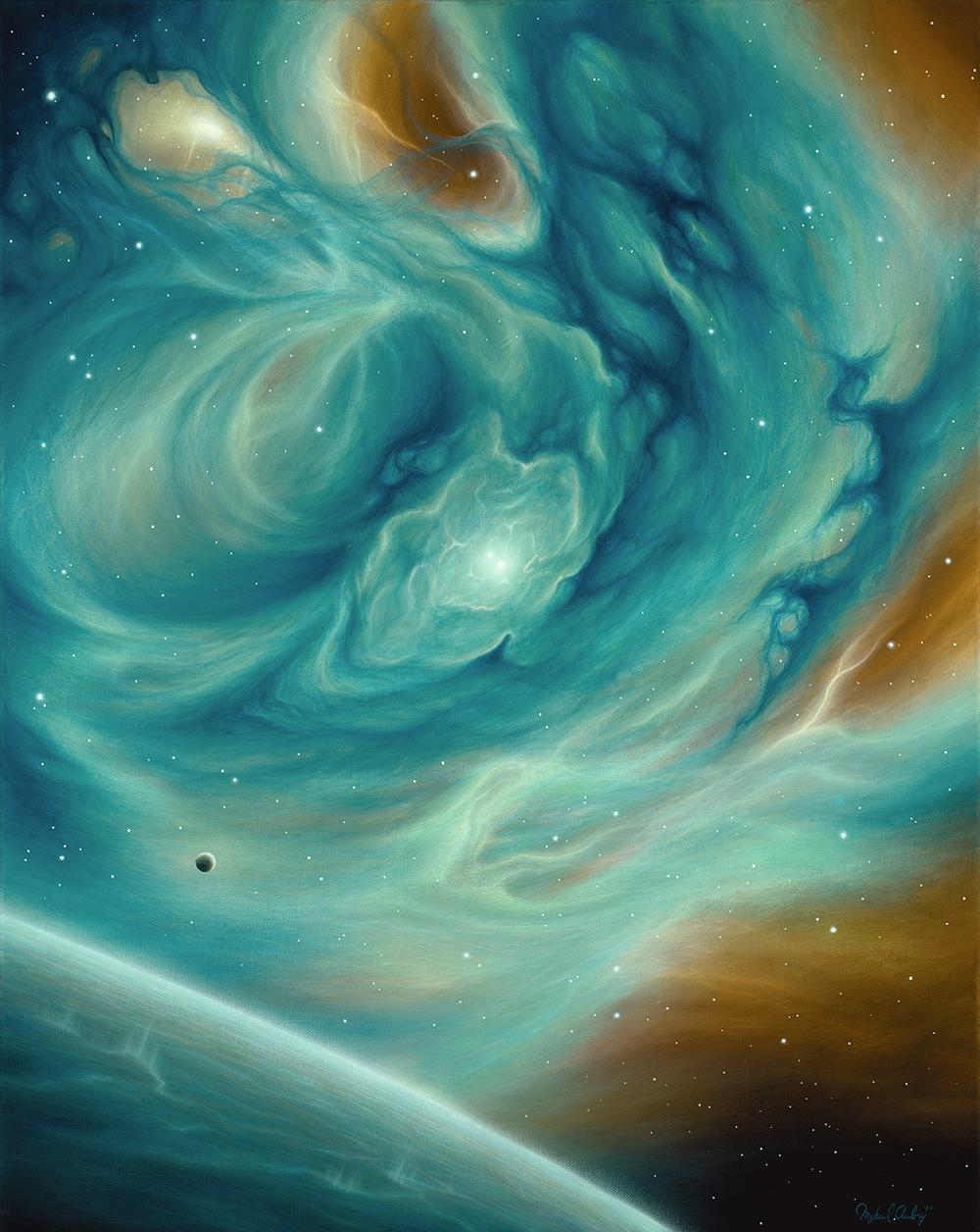 Orbital Resonance , 24x30, Acrylic on Canvas