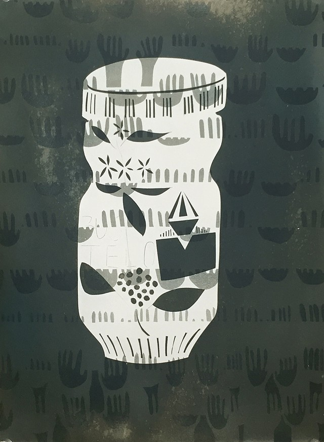 "cOfFeE. 2016. Toned Cyanotype. 11""x15"""