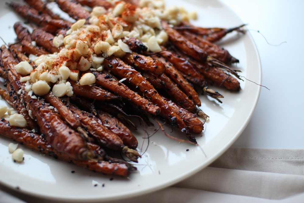 Cinnamon & Black Sesame Roasted Carrots