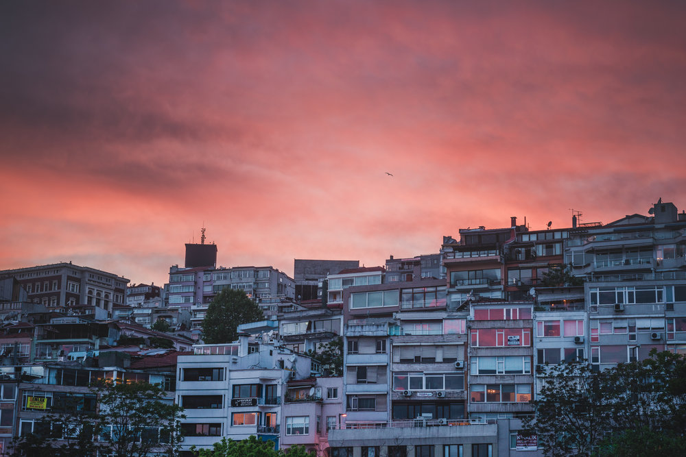 My favorite place I have ever lived, Cihangir hood in Istanbul. I spent many many mornings camped out on one of those balconies right up the top of the hill, watching the large ships move peacefully along the winter grey Bosporus, as the chatter of the seagulls broke the dull city hum. Then as the light seeped over the horizon kissing the landscape with light, so came the gentle voice far off in the distance - its more than just a song, it is multi-sensory experience. You hear it, you feel it... and one minaret soon infects the next, and soon it reaches you in this overwhelming chaotic yet divine cacophony of sounds that fills the heart with peace. To this day this was the most 'still' I have been.