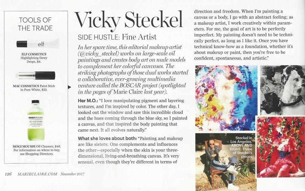 Marie Claire | Interview with Vicky Steckel featuring MOGI MOUSSE Oil Cleanser