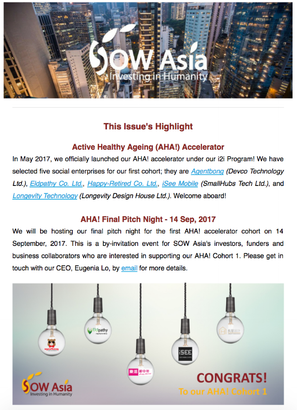 SOW Asia Newsletter - July 2017