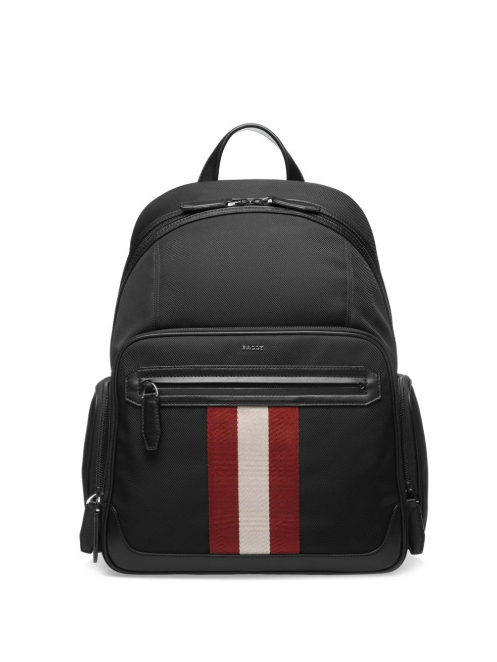 Bally Stripe Patch Canvas Backpack