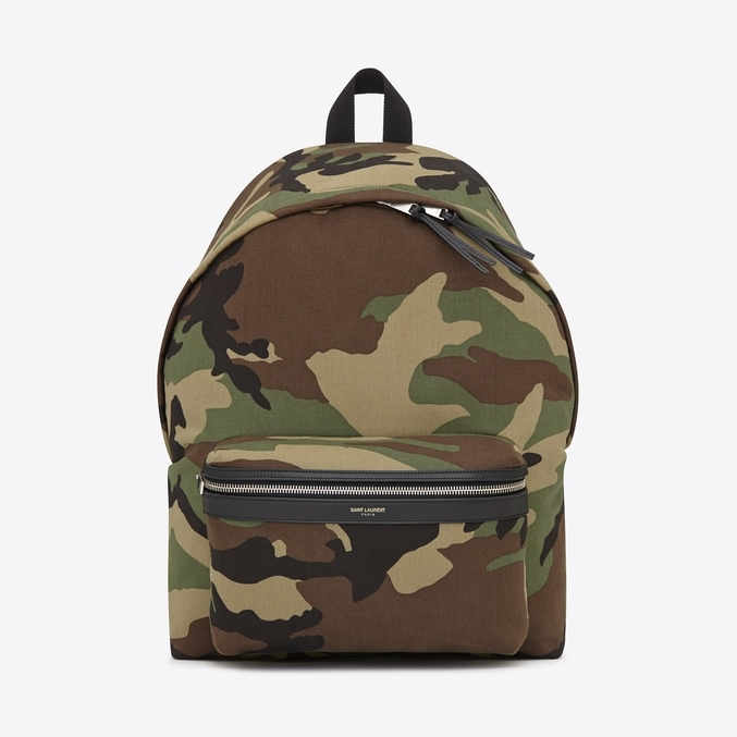 Saint Laurent Camo City Backpack