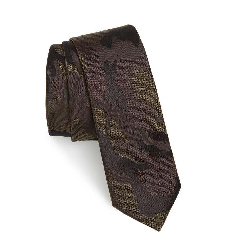 Valentino Camo Silk Tie