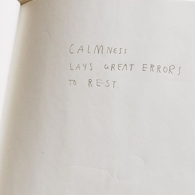 A sweet mantra — for when mistakes are made.