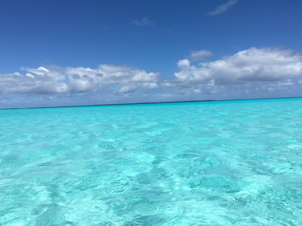 Turquoise water near Direction Island. Photo: Sian Pritchard