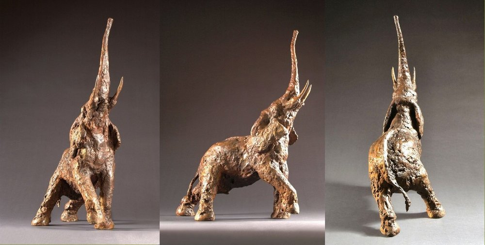 Reach - Bronze, 75 x 57 x 32 cms edition of 8 - £5,200.00 + p&p