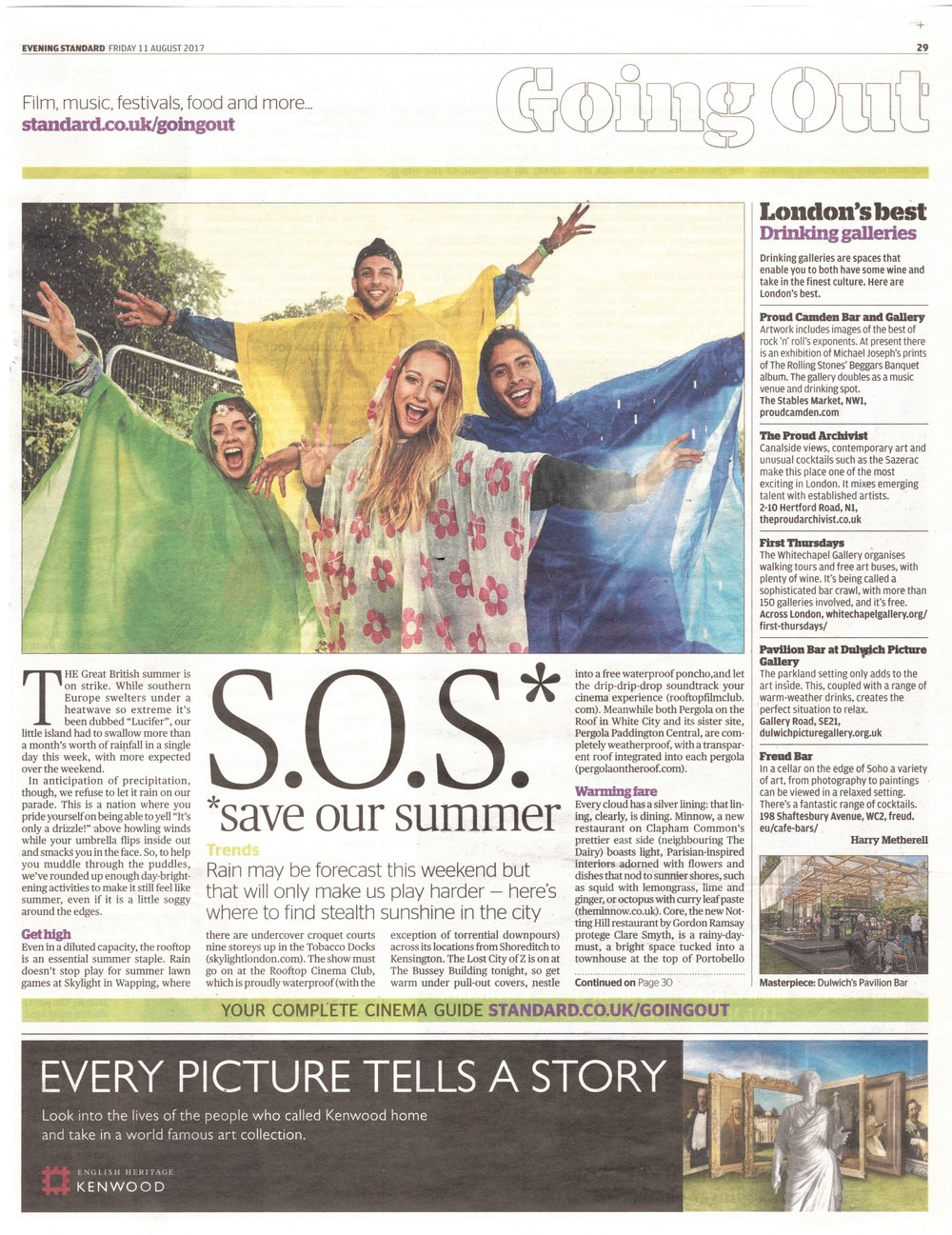 Evening Standard - 11 August 2017 - Skylight Feature .jpeg