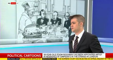 Simpsons In The Strand - BBC SkyNews Breakfast show.JPG