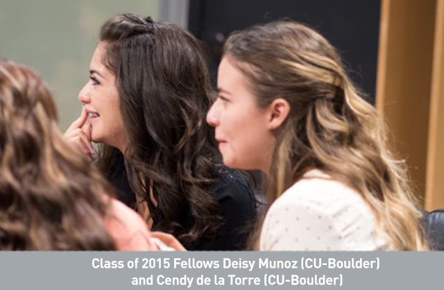 Class of 2015 Fellows Deisy Munoz (CU-Boulder) and Cendy de la Torre (CU-Boulder).jpg