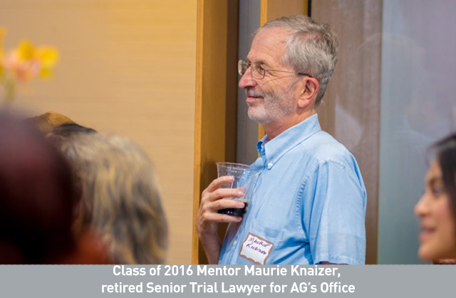 Class of 2016 Mentor Maurie Knaizer,  retired Senior Trial Lawyer for AG's Office.jpg