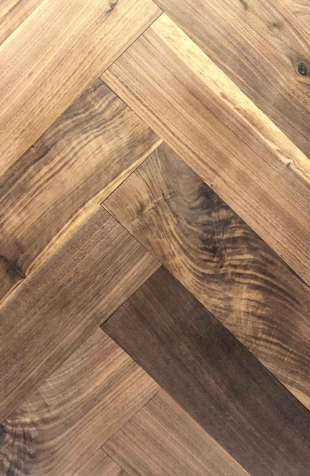Select Harvest Walnut Hardwood Flooring [Herringbone]
