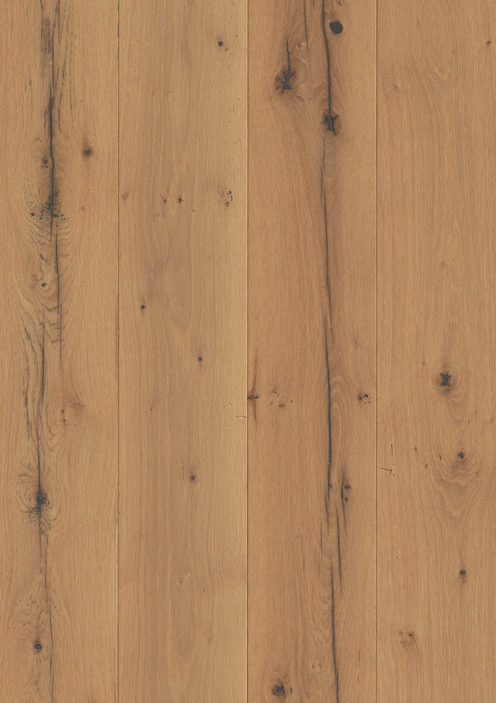 Reclaimed Oak, White New Face Bare Poly Prime 4