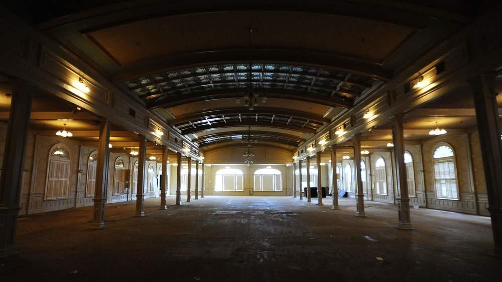 Abandoned hotel interior.
