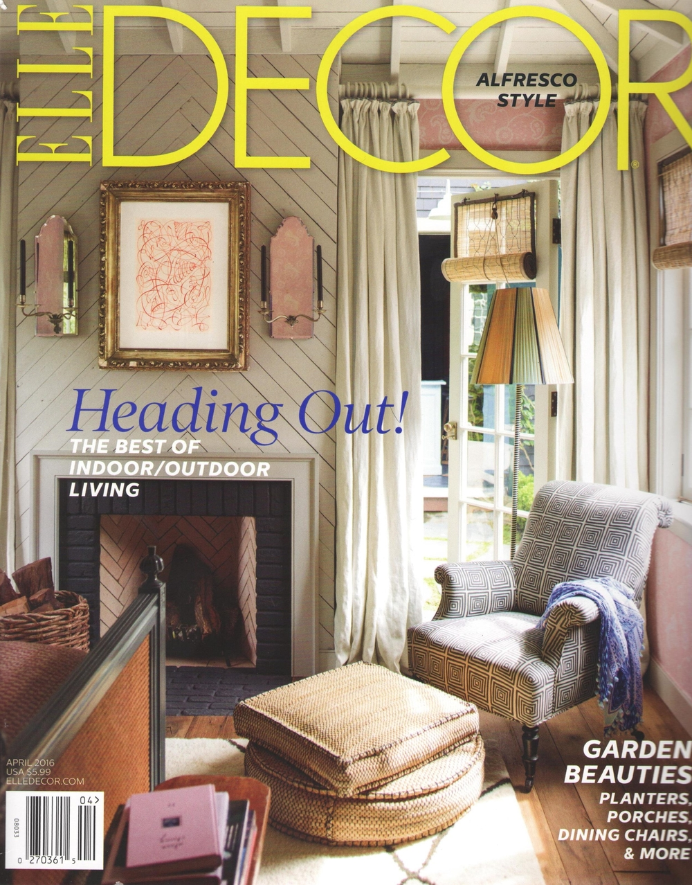 Reclaimed Heart Pine Flooring In ELLE DECOR