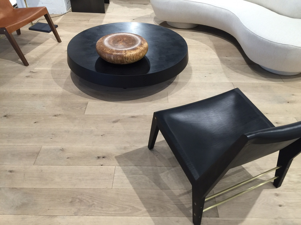 Hudson Company  Select Harvest White Oak [French Cut, Bare Finish]  floors used by designer Brad Ford at Collective Design Fair 2016.