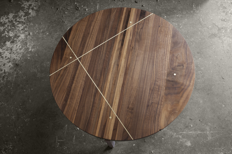 'Dante Table' in walnut