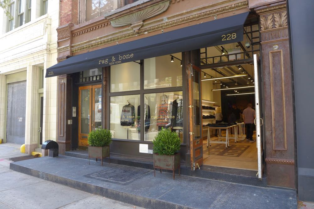 rag & bone's new men's store at 228 West Broadway in Tribeca. Photo via  tribecacitizen.com.