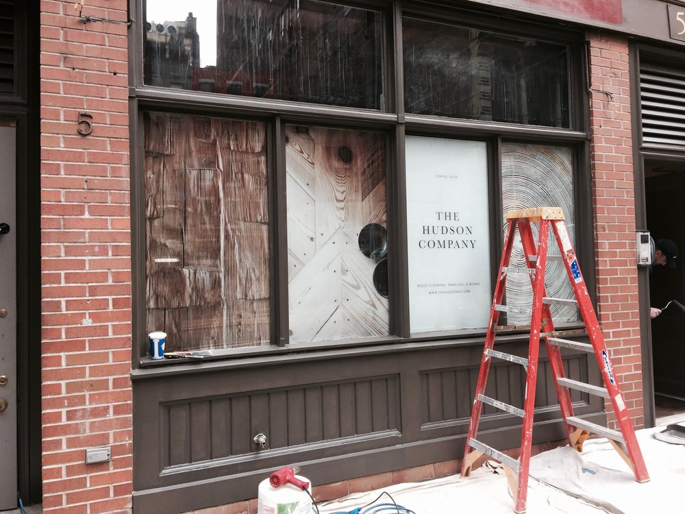 A work in progress: The Hudson Company's new Manhattan Showroom, opening Feb 1.