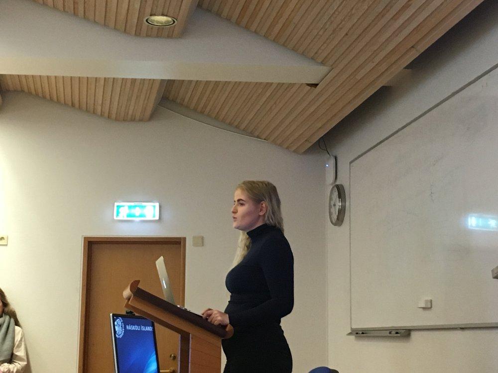 Nanna Hermannsdóttir gaf jafnframt kost á sér til embættis formanns SHÍ.  MYND/Stúdentablaðið