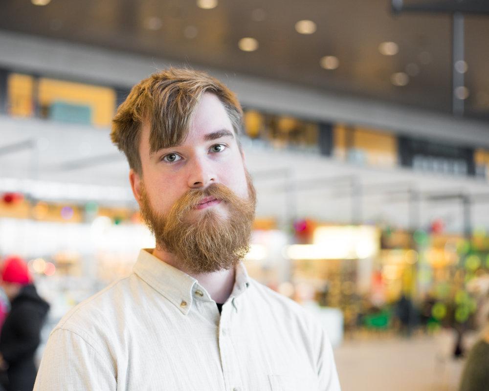 Pontus Järvstad, doktorsnemi í sagnfræði við Háskóla Íslands. Stúdentablaðið/Eydís María Ólafsdóttir