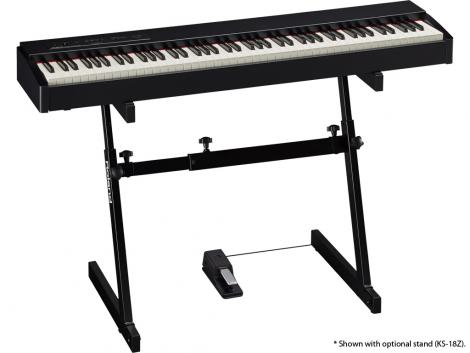 F-20 jako stage piano.