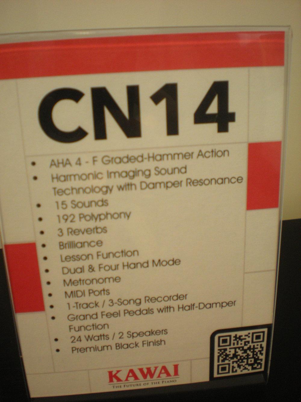 Kawai CN14 - specyfikacja