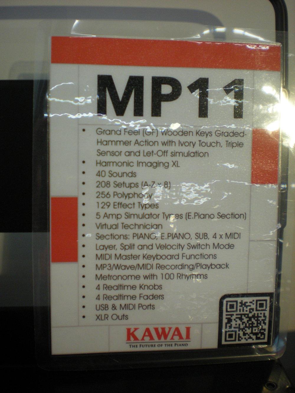 Kawai MP11 - specyfikacja