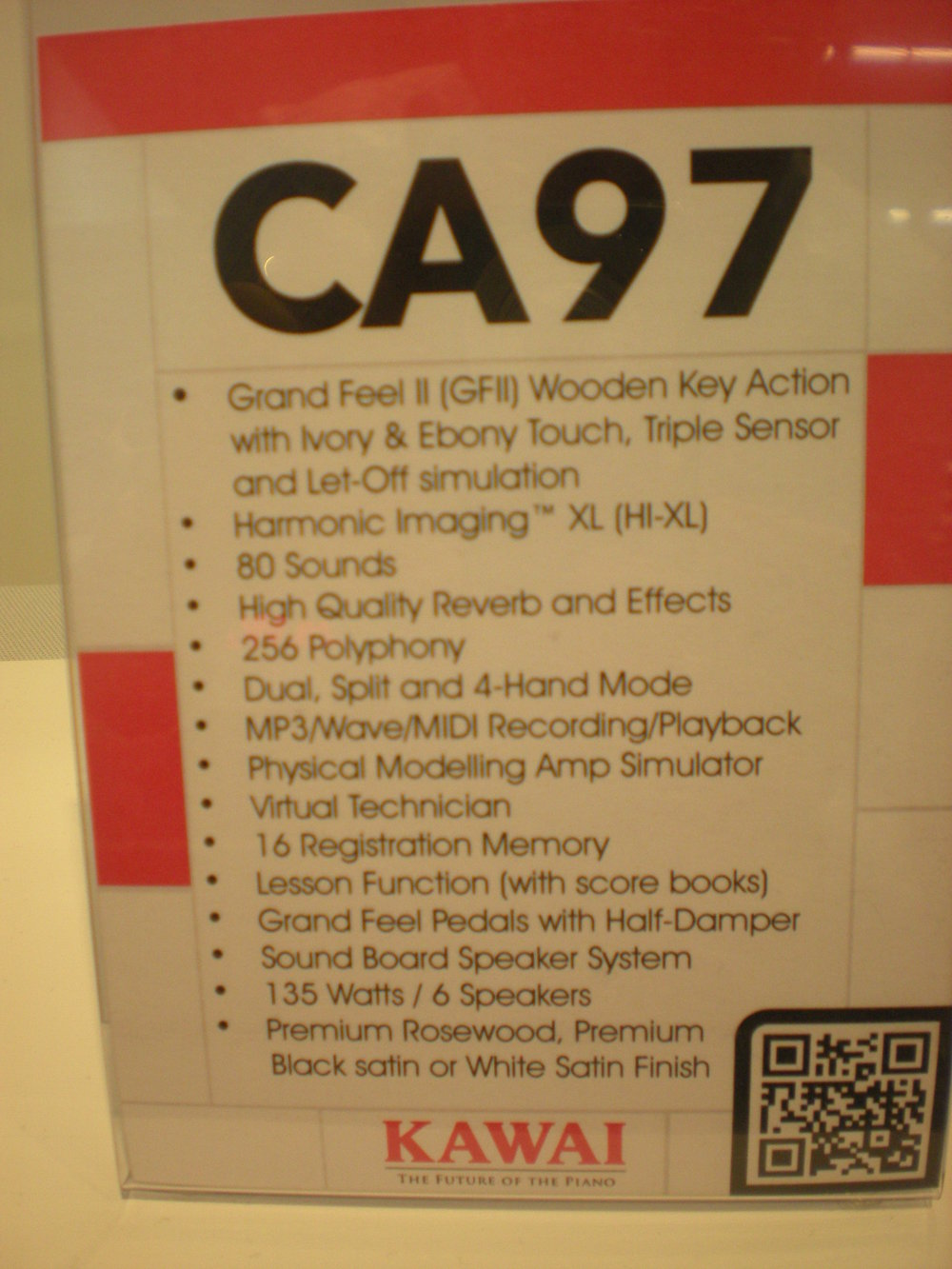 Kawai CA97 specyfikacja