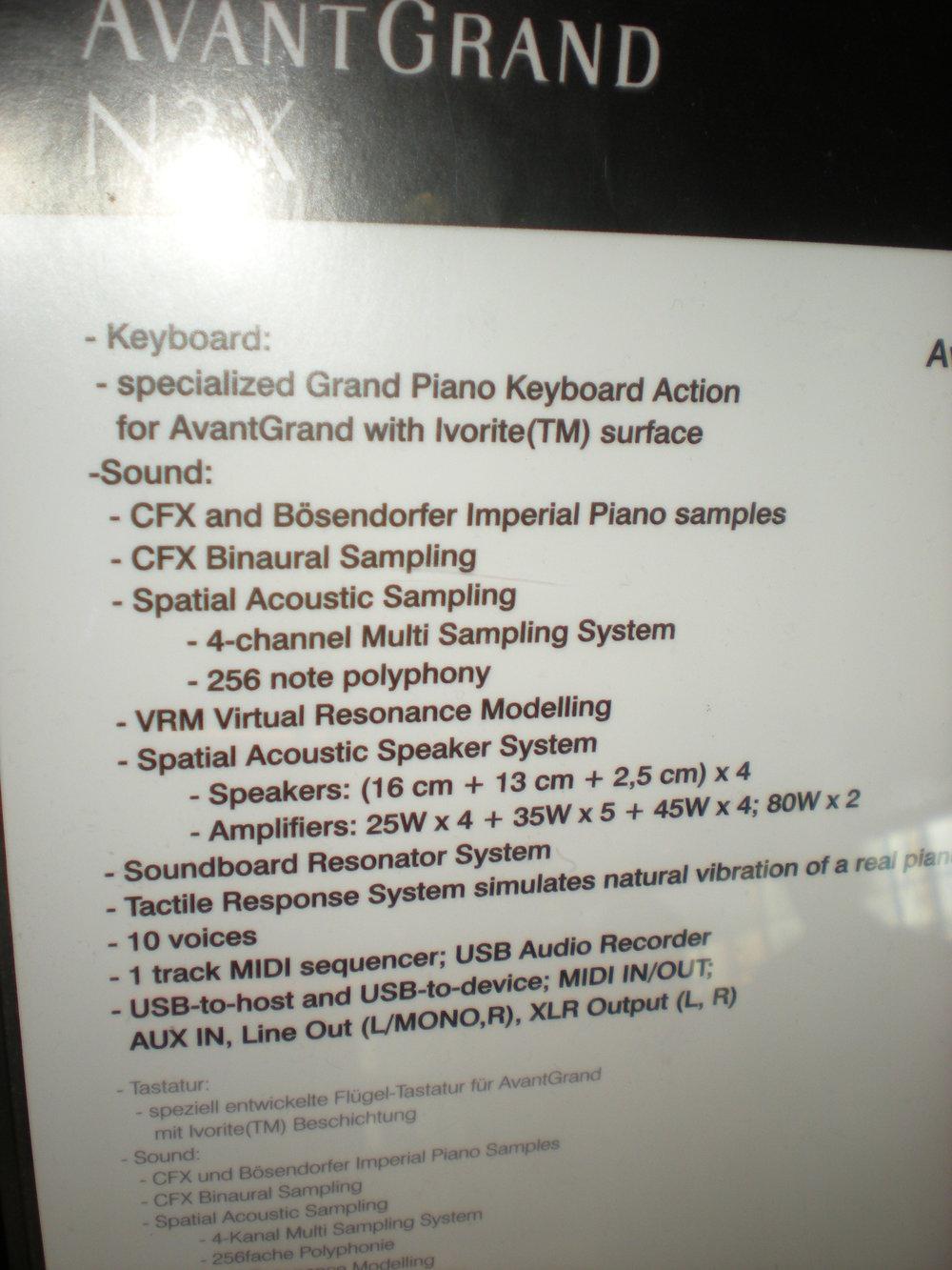 AvantGrand N3X - specyfikacje