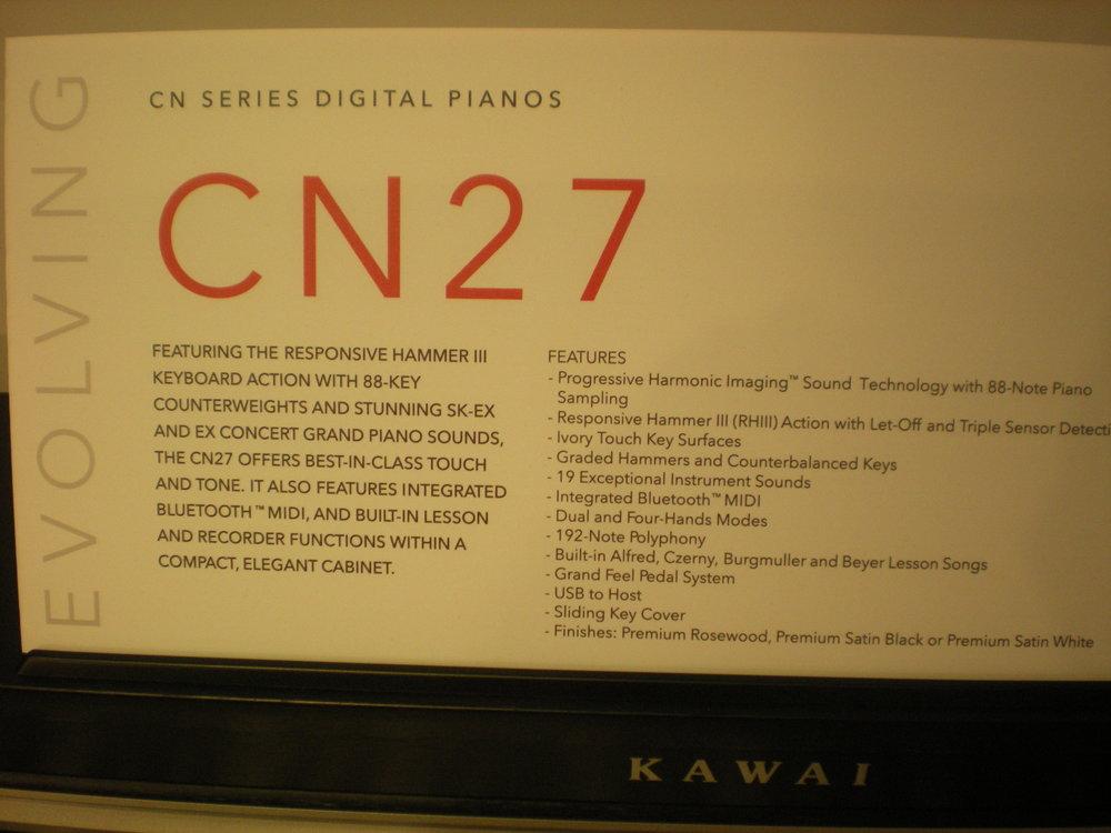 Kawai CN27 - specyfikacja