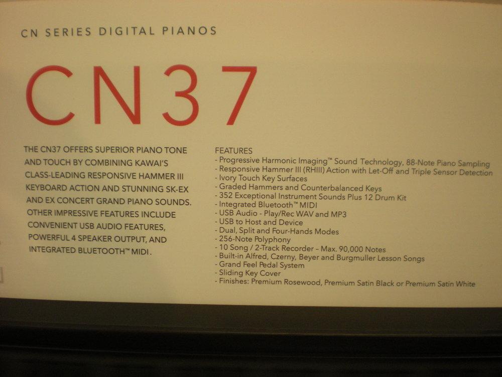 Kawai CN37 - specyfikacja