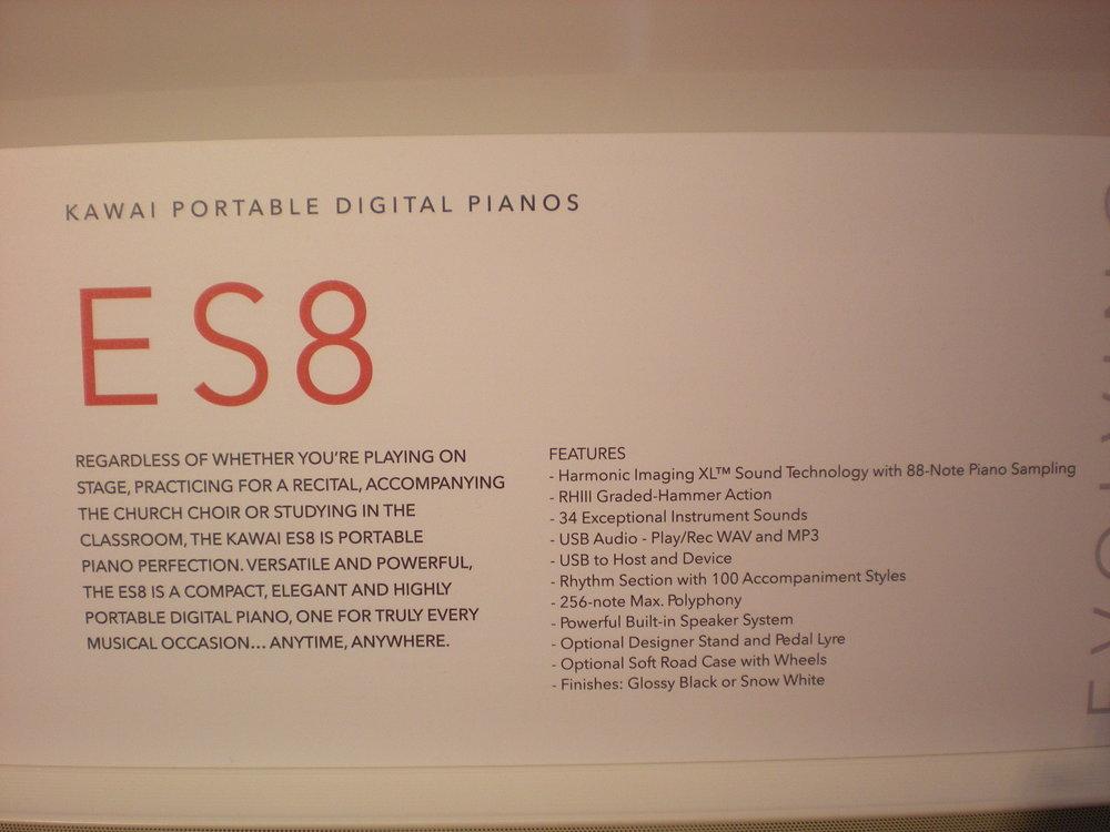 Kawai ES8 - specyfikacja