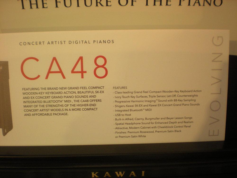 Kawai CA48 - specyfikacja