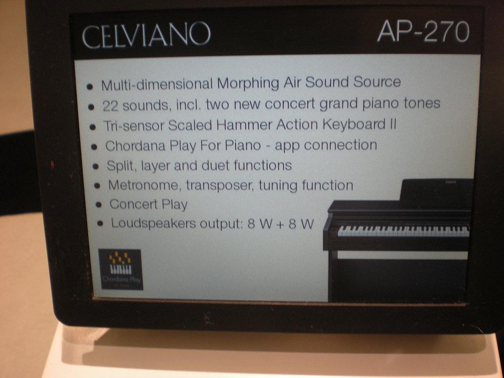 Casio AP-270 - specyfikacja