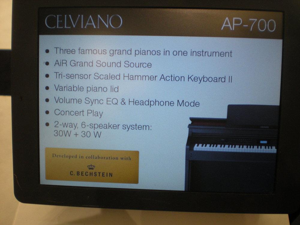 Casio AP-700 - specyfikacje