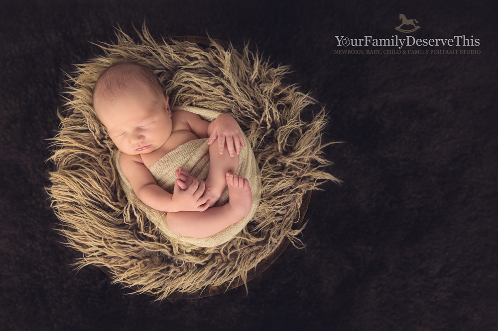 I love the warm tones in this newborn photo, the gorgeous natural colours and textures compliment this baby's skin tones perfectly. Ascot Newborn Portrait Photographer.