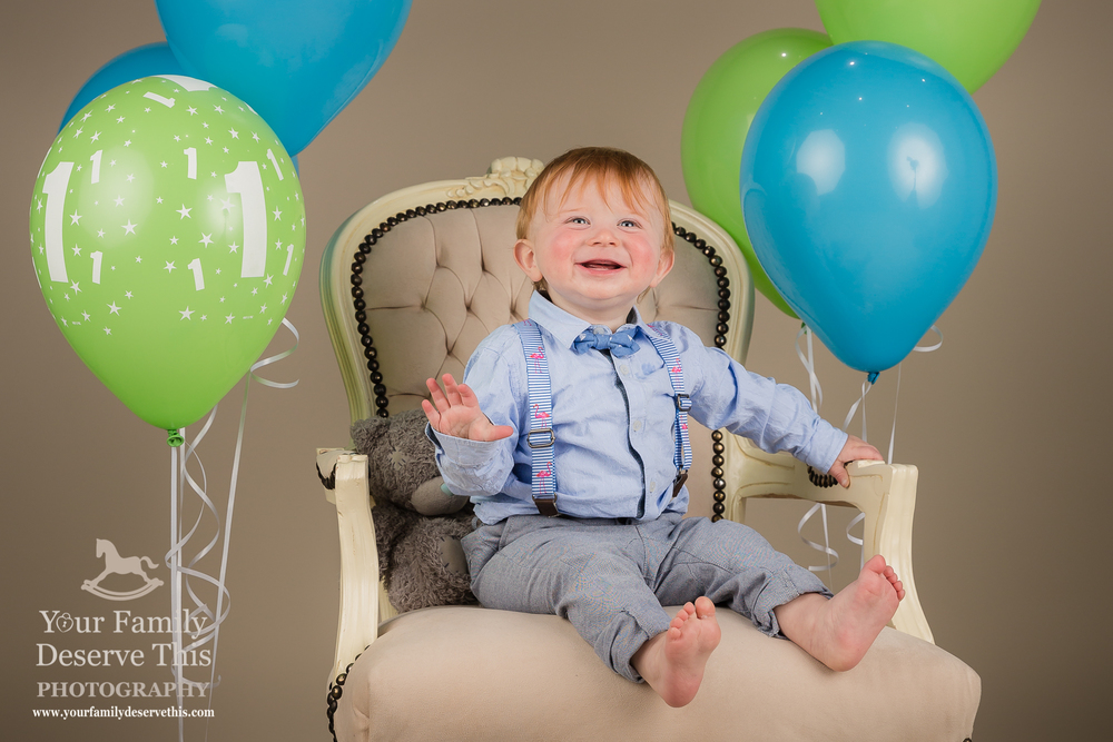 Happy 1st Birthday Theo. Blue, Green and Neutral Colour Theme.  yourfamilydeservethis.com
