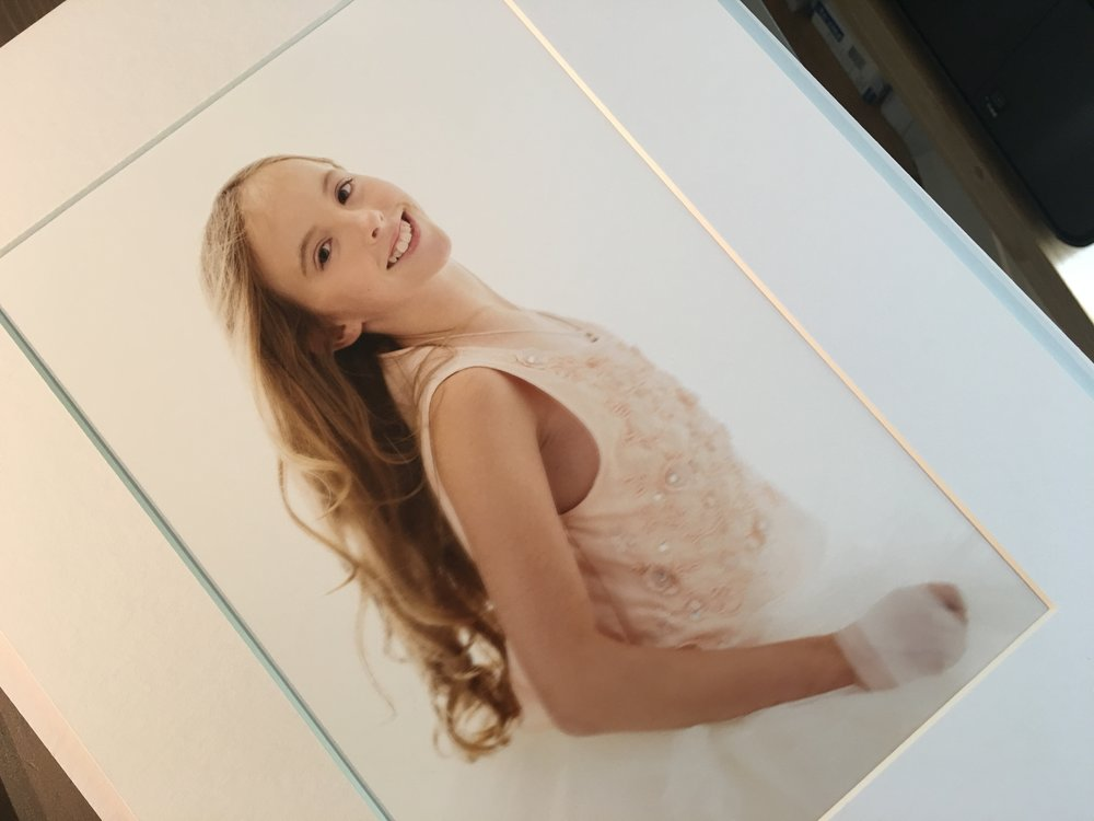 An example of our 8 x 12 inch print mounted and matted portrait  yourfamilydeservethis.com