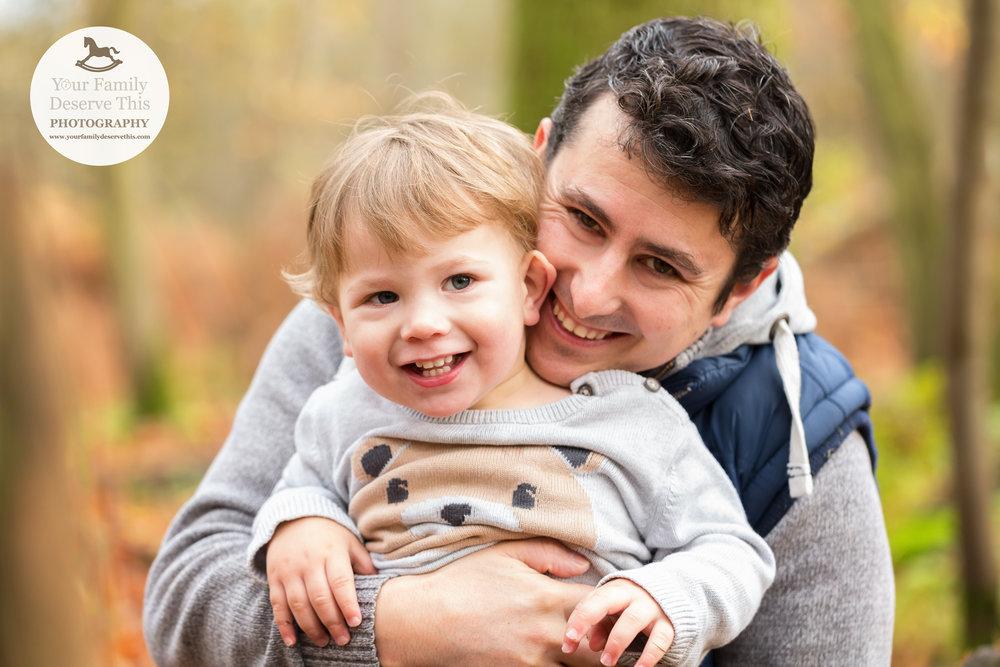Having fun in the woods, great family portraits to treasure.  yourfamilydeservethis.com