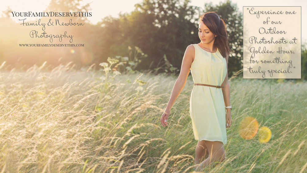prom year girl photographed at golden hour wearing yellow dress
