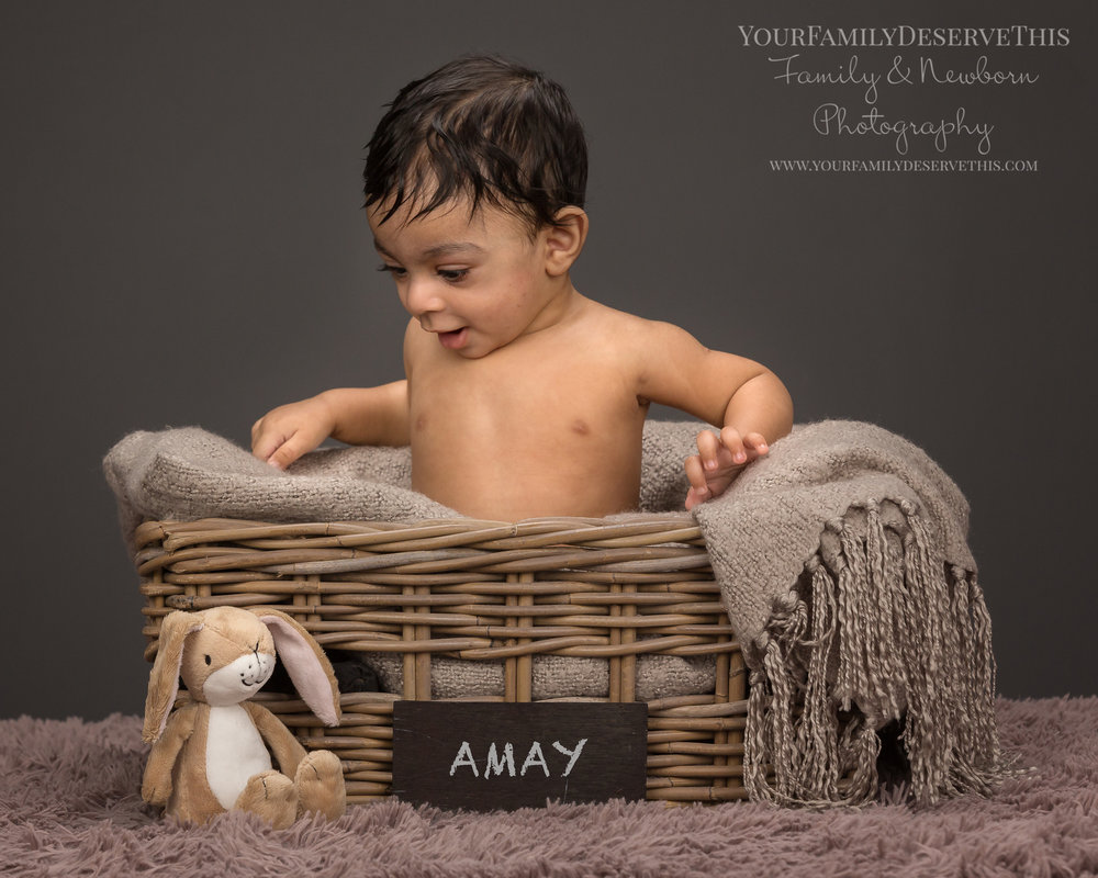 Amay bought his little nutbrown hare along for his next photoshoot 6 month baby photoshoot