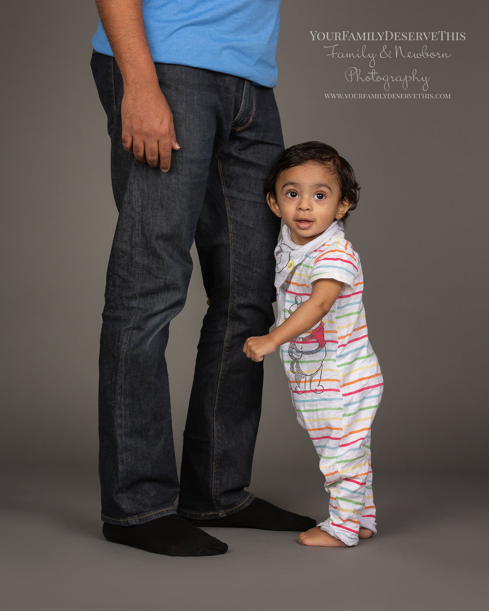 One day I'll be as tall as my Daddy, but for now I'm just perfect for a one year old. yourfamilydeservethis.com