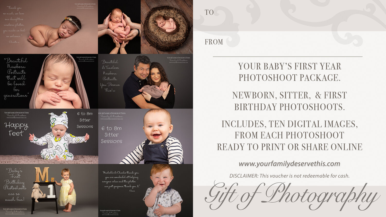 Photoshoot Gift Vouchers Yourfamilydeservethis Newborn And