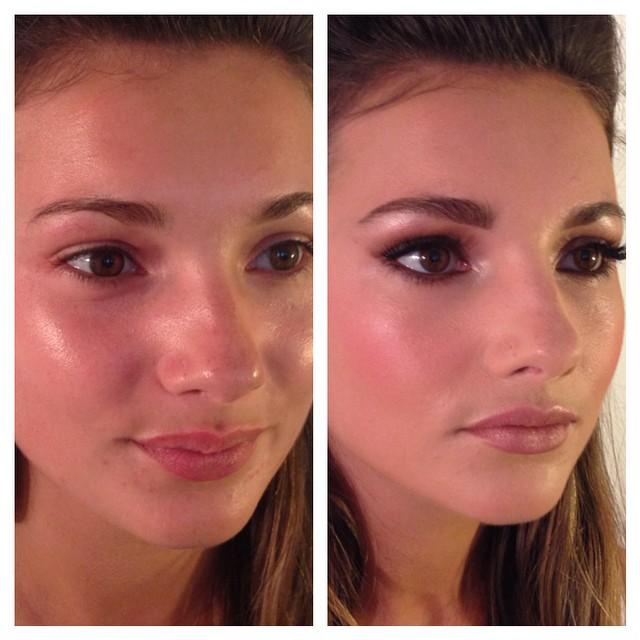 #onemore #mac #motd #makeup #makeupartist #brides #bridalbeauty #bridesmakeup #beforeandafter #brunette #Illamasqua #nudelipstick