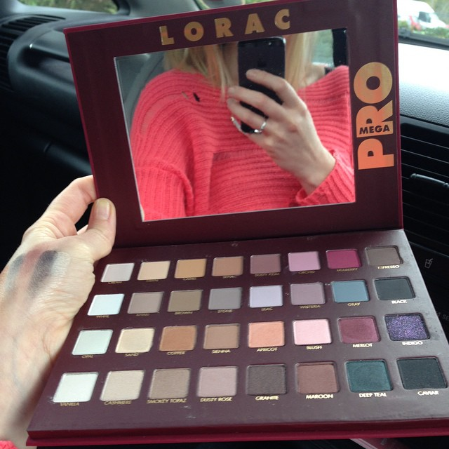 I have just got my hands on this new Pro Palette by Lorac Cosmetics, it's the first time I have used their eyeshadows, but after reading extremely good reviews online i decided to order it and I am over the moon with it, the top two rows are matte colours and the bottom two shimmers.    The pigment is unbelievable, I use the tiniest amount of product on my brush and it goes such a ling way, the texture is so smooth and buttery and they blend like a dream… I am hooked and will be ordering a lot more…    Sooooo pleased to get my hands in this!! #loraccosmetics #loracpro #eyeshadow #mua #makeupbyme #motd #eyeshadowpalette #pigment #ilovemakeup #lorac #loracmegapro